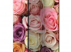 Paraván - Pastel roses [Room Dividers]